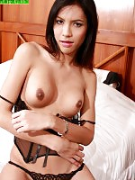 Wise is a 19 year old ladyboy who attends Bangkok University. Wise has a great head on her shoulders and perfect breasts down below!