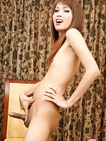 Tina is a gorgeous young slender tgirl with tiny titties.